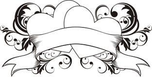 tatouage de loveers de coeur Photo stock