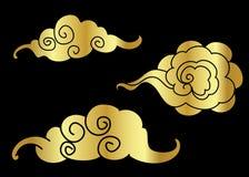 Tatouage de nuage d'or Photo libre de droits