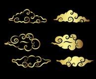 Tatouage de nuage d'or Photographie stock libre de droits