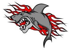 Tatouage de requin de danger illustration stock