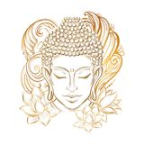Tatouage de tête du ` s de Bouddha illustration stock