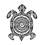 Tatouage de tortue illustration de vecteur