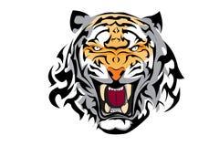 Tatouage de vecteur de tigre images libres de droits