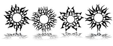 Tatouage des soleils Images libres de droits