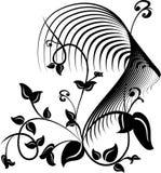 tatouage floral abstrait Photographie stock