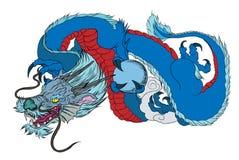 Tatouage japonais de dragon Tatouage japonais de conception de dragon d'ensemble pour le bras Photo libre de droits