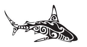 Tatouage polynésien de requin, vecteur illustration stock