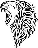 Tatouage principal de lion Images libres de droits