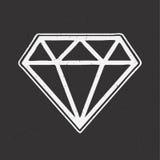 Tatouage tiré par la main de vieille école de diamant Photo stock