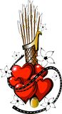 Tatouage Valentine Day avec la flèche 3 Images libres de droits