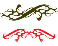 Tatouage vert-foncé et rouge Image libre de droits