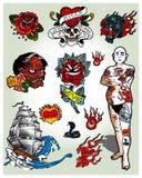 Tatouages illustration libre de droits