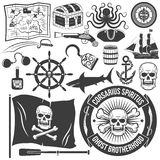 tatouages de style du pirate Photographie stock libre de droits