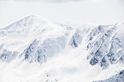 Tatra山在冬天 库存图片