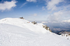 Tatra山在冬天 免版税库存图片