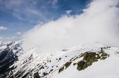 Tatra山在冬天 免版税库存照片