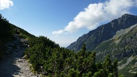 Tatra山的全景在斯洛伐克 库存图片