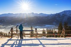 Tatra山的扎科帕内在冬天 图库摄影
