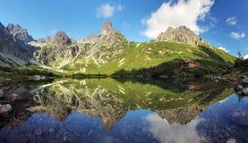 Tatra山的,斯洛伐克绿色湖 免版税库存照片