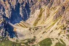 Tatra山看法从供徒步旅行的小道的 波兰 欧洲 图库摄影