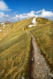 Tatra山道路的风景 免版税库存照片