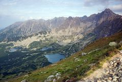 tatra βουνών βουνών λιμνών Στοκ Φωτογραφία