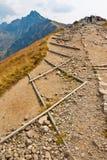 Путь в горах Tatra стоковые изображения