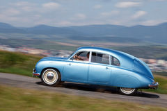 Tatra 600 Tatraplán. Vintage car driving across the country on the event Oldtimer Rallye Tatry 2012 stock image