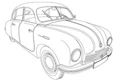Tatra 600 Tatraplan Royalty Free Stock Photo