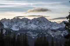Tatra berg i vintern, landskap Royaltyfri Fotografi