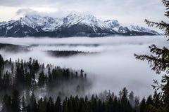Tatra berg i vintern, landskap Arkivfoton
