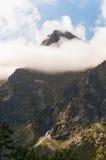 Tatra berg, maximum i molnen. Royaltyfri Fotografi