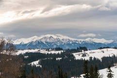 Tatra berg på en molnig dag Royaltyfri Foto