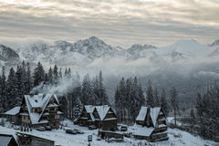 Tatra-Berge im Winter, Landschaft stockfotografie