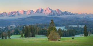 Tatra-Berge morgens Stockbild