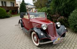 Tatra 75 Cabrio 1936 Arkivfoton
