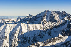 Tatra giants in winter. stock photo