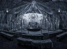 Tatra Ice Dome, Hrebienok, High Tatras. Tatranský ľadový dóm, Vysoké Tatry Stock Image