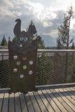 Tatra-montaña del conejo de madera de las copas imagenes de archivo