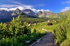 Tatra mountain. Beautiful view from Tatra Mountains in Poland royalty free stock image