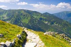 Tatra Mountain, Poland, walk from Kasprowy Wierch to Czerwone Wierchy Royalty Free Stock Image