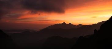 Tatra mountain at sunrise. Stock Image