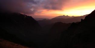 Tatra mountain at sunrise Royalty Free Stock Images