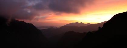 Tatra mountain at sunrise Royalty Free Stock Photos