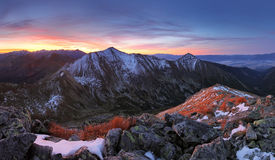 Tatra mountain at sunset Stock Photography