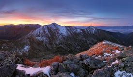 Tatra mountain at sunset Stock Photography