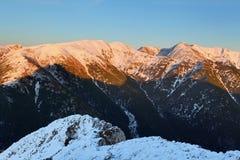 Tatra mountain at sunset - West Tatras Stock Photography