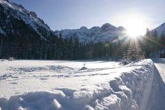 Tatra mountain from Włosienica Glade Royalty Free Stock Photo