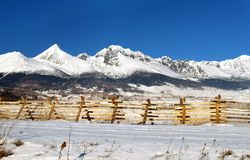 The Tatra Mountains. A view of The Tatra Mountains in winter, Slovakia Royalty Free Stock Image