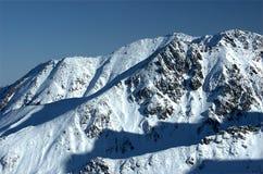 Tatra Mountains 3. Tatra Mountains and skies at winter Royalty Free Stock Photo